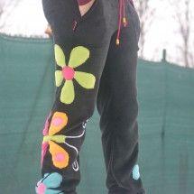 Fleecové kalhoty s motýlkem....