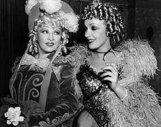 Mae West (1893-1980) and Marlene Dietrich (1901-1992)