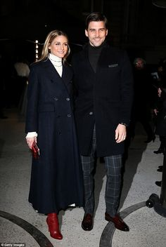 Fashion fans:Olivia Palermo and her model husband Johannes Huebel couldn't pass up an invite to one of Paris Haute Couture Fashion Week's most anticipated shows on Wednesday