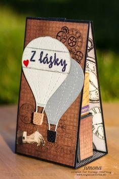 Darčekový obal na čokoládky v pánskom štýle / Gift box for a chocolate Vintage Crafts, Cardmaking, Scrapbook, Chocolate, Create, Box, Cards, Gifts, Inspiration