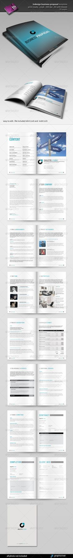 Proposal Template u2014 Photoshop PSD #company proposal #corporate - proposal layouts