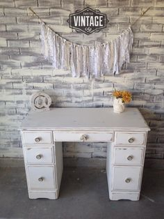 Here is the piece it went on! Our client just picked up love how it turn out! A simple chic white and the hardware says it all!!! More pictures posted on Facebook!
