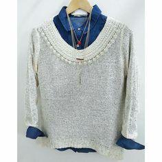 Sweater con perlas + Camisa + Collar #AW16