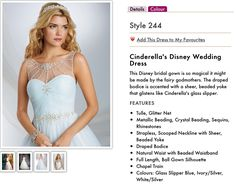 Sale dress of the week has to be Cinderella from Alfred Angelo Disney. Size 14 now £400 from £1400
