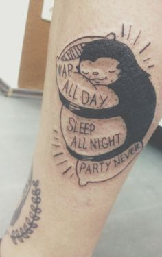 Body Jewelry, Funny Stuff, Tattoo Sloths, Nice Ink