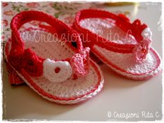 Infradito Baby a Uncinetto con schema e spiegazioni - Creazioni Rita C. ...Only Handmade!