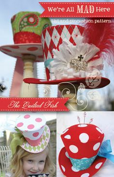 mini mad hatter hat pattern | ... mad here hat and pincushion pattern make your own mini top hat if you
