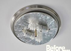 Upgrade a ceiling light with a drum shade for under 15 for the budget diy make an oversized ceiling mount shade aloadofball Images