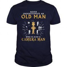 Camera man old man T Shirts, Hoodies. Check price ==► https://www.sunfrog.com/LifeStyle/Camera-man-old-man-1-Navy-Blue-Guys.html?41382