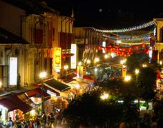The bars and markets in Singapore's Chinatown district