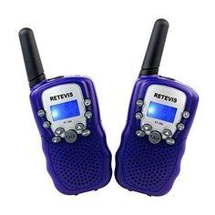 Retevis RT-388 Walkie Talkie Ricetrasmettitore 8 Canali VOX Ricetrasmittente per Bambini (Violetto) euro 29,99