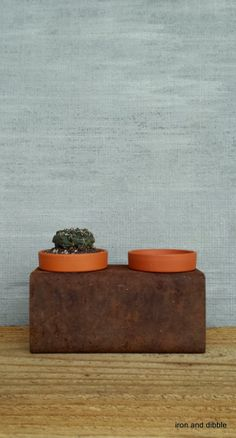 Square 4 x4 Steel Metal Planter with Pot Indoor by IronandDibble