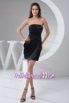 89f4919fefa8 Buy mini length beaded black bridesmaid gowns with ruchings from short bridesmaid  dresses collection