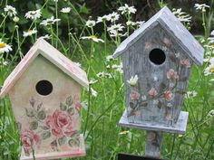 Ideas.  So many birdhouses on Pinterest. casita de pajaros