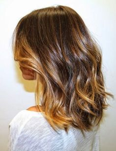 Long Bob Balayage—my dream hair! Medium Hair Cuts, Medium Hair Styles, Short Hair Styles, Medium Curly, Medium Brown, Medium Blonde, Hair Day, New Hair, Caramel Hair