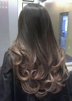Titanium pearl ash blonde Ombre on asian hair