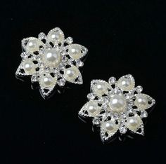 Diy Accessories High End Imitation Pearls Alloy Studded Glue On Disc Drill Deduction Rhinestones Accessories Flowers Arts,crafts & Sewing
