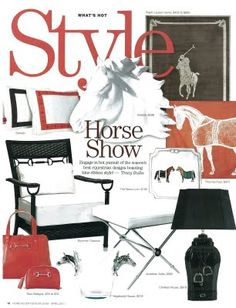 horse show style... any of these pieces would make for a nice horse show setup.