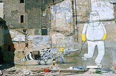 Les peintures murales de BLU | La boite verte