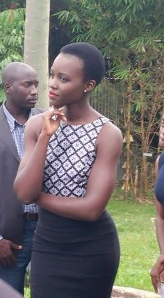 Lupita Nyong'o doing press for upcoming movie Queen of Katwe in Kampala, Uganda