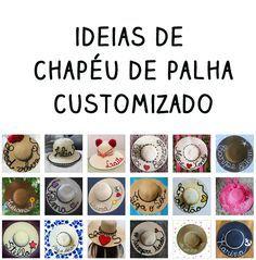 05029e92d0 Chapéu de palha customizado  ideias do Instagram