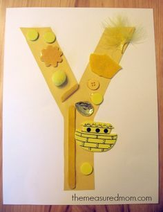 letter y craft 1 the measured mom 7 Letter Y Crafts and Process Art for Preschoolers