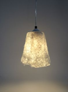 Handfelted lampshade lamp white hanging lamp by atelierflorine, €89.00