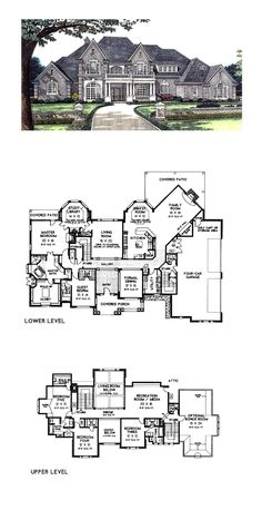 Luxury House Plan 66026 | Total Living Area: 5306 sq. ft., 5 bedrooms, 4 full bathrooms and 2 half baths. #luxuryhome