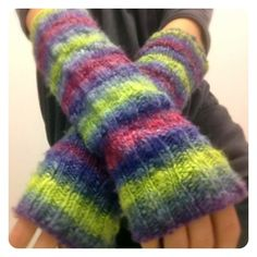 slouchable knitted arm warmers pattern -- with video