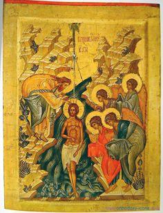 Russian Icon of St. I love the icon of Theophany. Russian Icons, Russian Art, Religious Icons, Religious Art, Saint Gregory, Saint John, John Chrysostom, Religion Catolica, San Juan