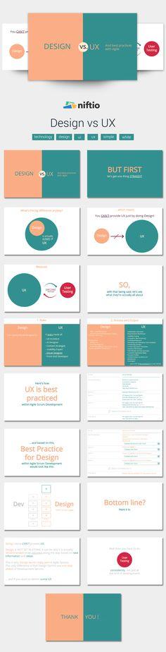 Design vs User Experience | Technology Presentation Templates | Niftio
