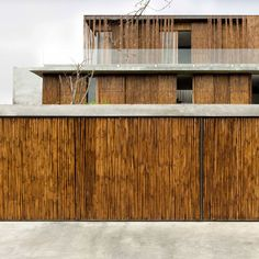 Bamboo cladding surrounds house in the Philippines by Atelier Sacha Cotture (There are so many uses for bamboo!)