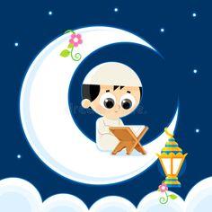 Illustration about Happy Ramadan _ Child Reading Quran (Quran is the holy book of Islam) _Ramadan Greeting Card _Ramadan Kareem. Illustration of fanoos, arab, fanous - 65910717