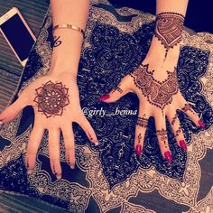my henna design for my sweet Client by girly__henna