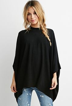 Mock Neck Poncho Top   Forever 21 - 2000141959 I need this in my life asap!