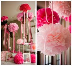 Розовые помпоны