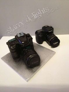Canon camera cake tutorial