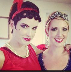My best friend's bachelorette party was 1920's themed. I love doing the hair and makeup!