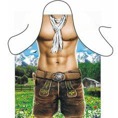 Sexy schort Trendy Alpen man. Tiroler keukenschorten Alpen man gemaakt van mooie kwaliteit bedrukking in prachtige kleuren. Dit Alpen man barbecue schorten zijn gemaakt van 100% polyester. Wasbaar tot ongeveer 50 graden. Lengte: 94 cm, breedte: 57 cm.