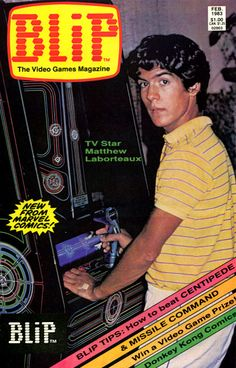 Marvel Blip The Video Games Magazine Debut Issue #1 Comic Book Cover Matthew Laborteaux - February 1983