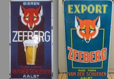 Sous Bock, Beer Brewery, Ads, Sheet Metal, Shop Signs