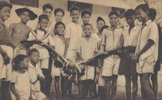 The Philippines Belgian mission Celebes captured giant bird. Circa  1910.
