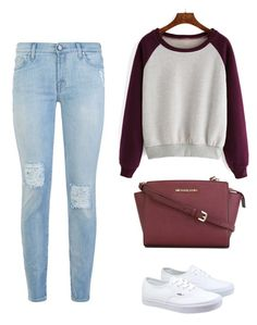 """""""Casual Outfit"""" by alina-w ❤ liked on Polyvore featuring MICHAEL Michael Kors, 7 For All Mankind and Vans"""