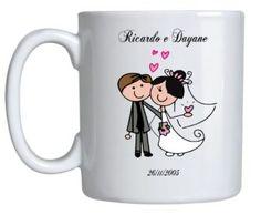 canecas personalizadas para lembrançinha de casamento