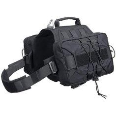 Spirit Saddle Dog Pack - Black