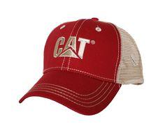 767fb26c66035 CAT Hats - CAT Caps - Caterpillar CAT Red Trademark Trucker Caps -  Caterpillar Merchandise. GorrasOruga