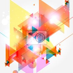 """Wall Mural """"3d, geometric, shape - abstract vector"""" ✓ Easy Installation ✓ 365 Days Money Back Guarantee ✓ Browse other patterns from this collection!"""
