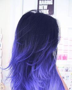 Dark to Purple Ombre Hair