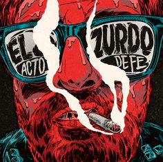 "Album artwork for the spanish guitarrist Alex Meléndez ""El Zurdo"" and his band. ""Acto de Fe"" was released on April 2016, recorded in Madrid and it features guest artists like El Twanguero or Ariel Rot."