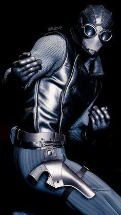 Image result for spider man ps4 noir suit Noir Spiderman, Ps4, Deadpool, Superhero, Suits, Leather, Fictional Characters, Image, Ps3
